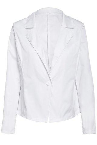 Latest Formal Lapel Long Sleeve One Button Design Women's White Blazer