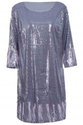 Glitter Sequin Fringed Dress