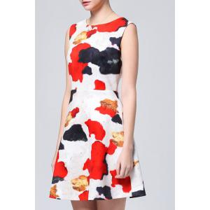 Sleeveless Color Block Dress -
