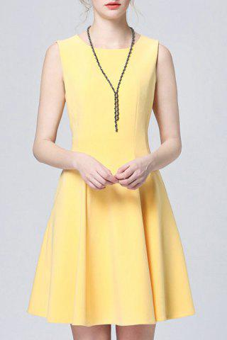 Buy Solid Color Pleated Sundress
