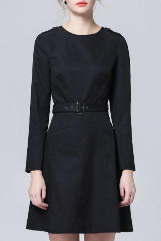 Affordable Long Sleece Trench Coat Dress