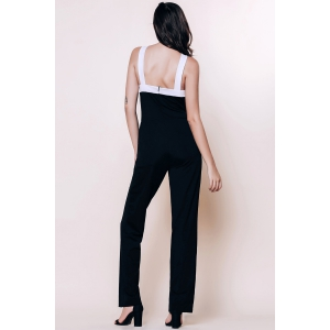 Sleeveless Open Back Jumpsuit -
