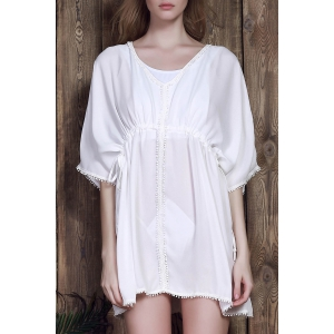 High Waist Drawstring Cover-Up