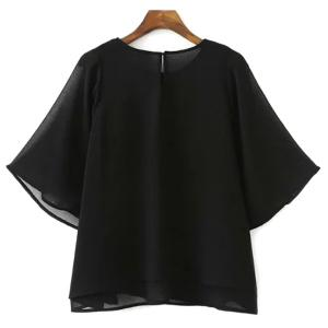 Fashionable Jewel Neck Half Sleeves Floral T-Shirt For Women -