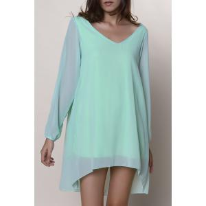 Split Long Sleeve Chiffon Summer Mini Dress