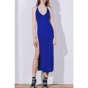 Maxi High Slit Backless Slip Club Dress