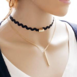 Vintage Multilayered Bar Choker Necklace