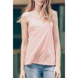 Stylish Scoop Neck Criss-Cross Straps Tank Top For Women