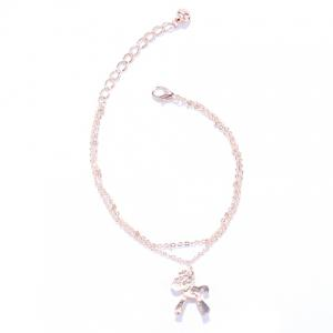 Multilayered Cartoon Pony Pendant Foot Bracelet