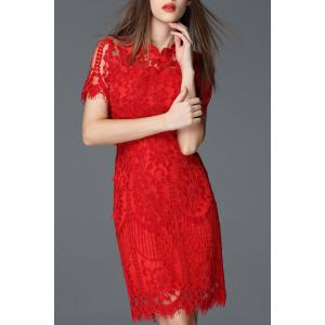 Lace Sheath Cheongsam Dress -