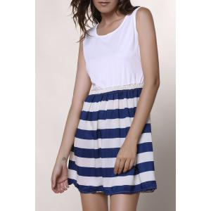 Sleeveless Striped Casual Dress