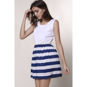 Sleeveless Striped Casual Dress -