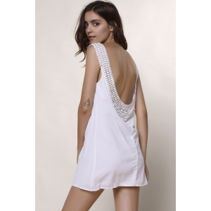 Scoop Neck Sleeveless Backless Chiffon Dress -