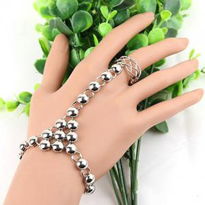 Hollow Out Round Bracelet with Ring