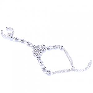 Hollow Out Round Bracelet with Ring -