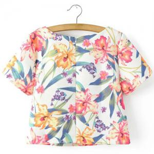 Concealed Rear Zip Hawaiian Shirt -