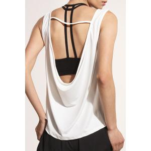 Sporty U Neck Backless Running Vest