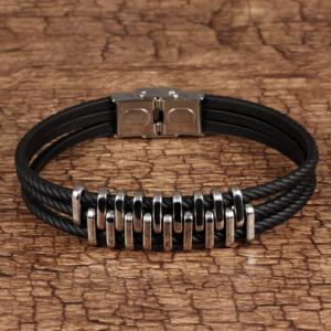 Vintage Layered Alloy Bracelet -