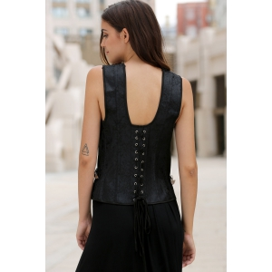 Stylish Jacquard Criss-Cross Corset For Women -