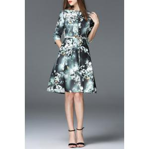 Printed Knee Length Dress -