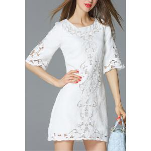 Cut Out Embroidered Dress -