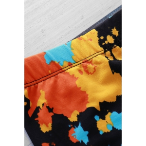 Elastic Printing Swimming Trunks For Men - COLORMIX L