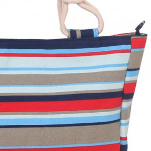 Leisure Color Block and Stripes Design Tote Bag For Women -
