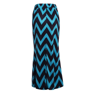 Sweet Color Block Zigzag Skirt For Women -