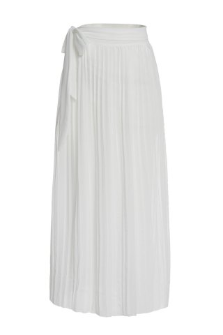 Chic Sexy White High Slit Flounced Skirt For Women