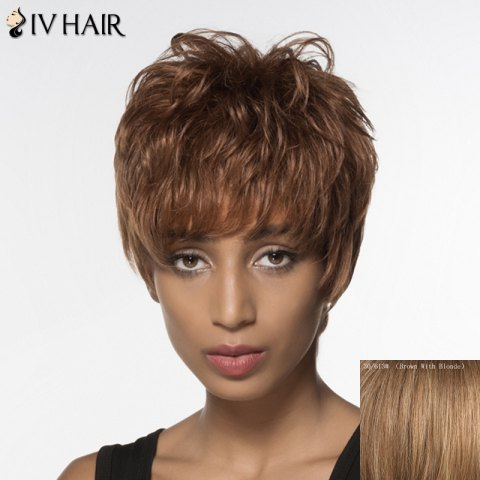 Outfits Spiffy Short Siv Hair Capless Fluffy Wave Full Bang Real Natural Hair Wig For Women