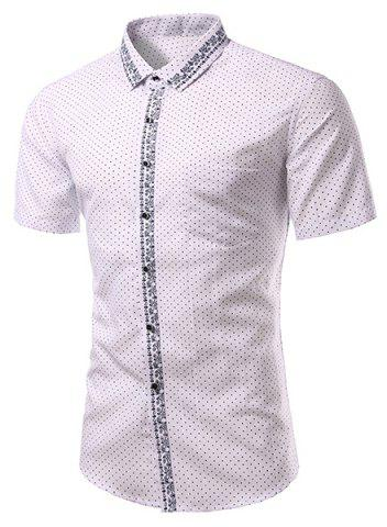 Outfit Casual Printing Turn Down Collar Short Sleeves Shirt For Men