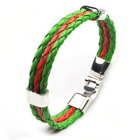 Fashion Faux Leather Portugal Bracelet GREEN