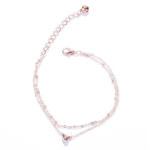 Chic Stylish Multilayer Heart Anklet For Women GOLDEN