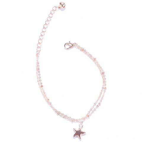 Discount Stylish Multilayer Pentagram Pendant Anklet For Women