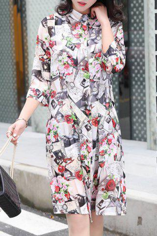 Trendy Chiffon Floral Long Cardigan