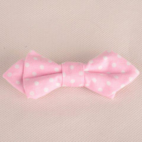 Shop Chic Polka Dot Pattern Candy Color Double-Deck Bow Tie For Kids