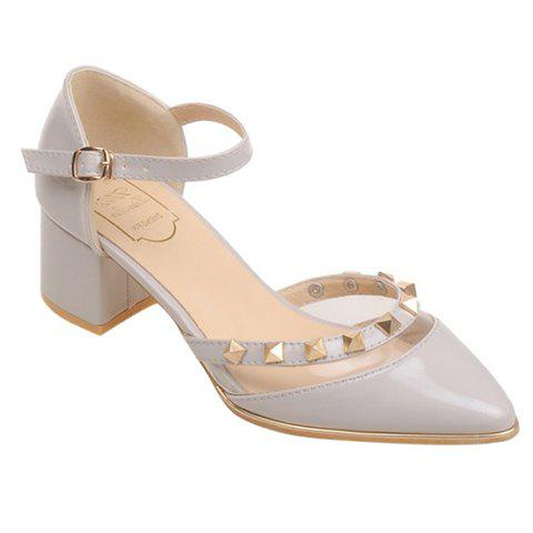 Discount Trendy Transparent Plastic and Pointed Toe Design Pumps For Women