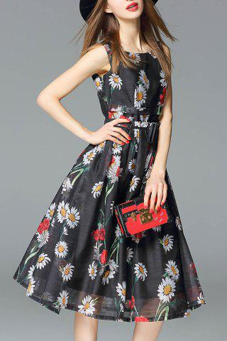 Outfits Waist Tied Midi Floral Dress
