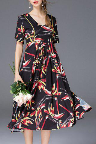 Outfit Floral Print Belted Dress