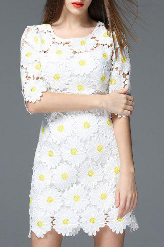 Sale Daisy Shape Cut Out Dress