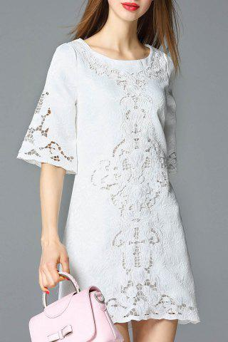 Cheap Cut Out Embroidered Dress