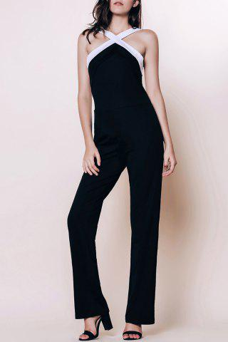 Store Sleeveless Open Back Jumpsuit