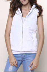Slim Fit Zip Up Hooded Vest