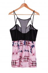 Sexy Strappy Hollow Out Floral Print Romper For Women