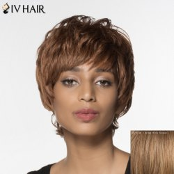 Fluffy Natural Wave Siv Hair Noble Short Capless Human Hair Wig For Women -