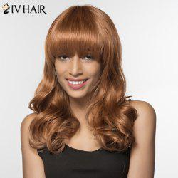 Charming Siv Hair Long Capless Fluffy Wave Full Bang Human Hair Wig For Women -