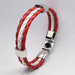 Braided Faux Leather Rope Canada Bracelet -