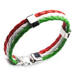 Faux Leather Italy Bracelet - GREEN