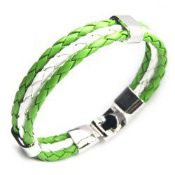 Faux Leather Nigeria Bracelet - GREEN
