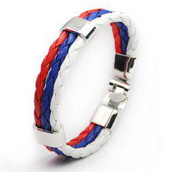 Faux Leather Russia Bracelet - WHITE